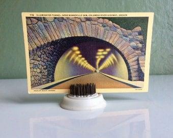 Columbia River Highway, Illuminated Tunnel postcard. 1940s