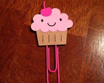 Happy Little Cupcake bookmark paper clip