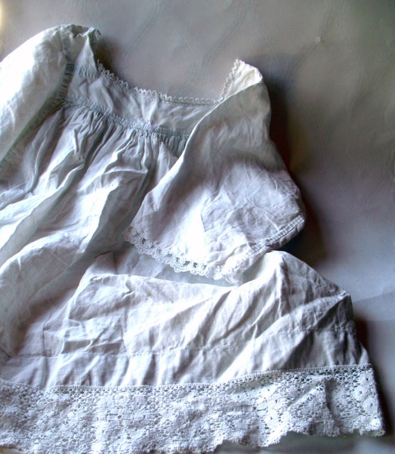 Antique-Childs Choir Robe- Linen Gown-French Flea Market Find- Rustic - Homespun Linen/Hemp -