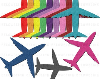 Textured Airplanes Clipart Clip Art Digital Scrapbooking Commercial Use - printable clipart - Instant Download  - DP337
