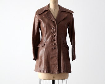 1970s North Beach Leather jacket, women's NBL coat