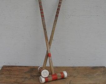 Vintage Croquet Mallets