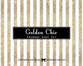 Golden Chic - Premade Etsy Shop Banner set   - Boutique - accessories - elegant