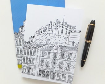 Edinburgh Journal , Scottish Travel Journal,  Edinburgh Castle Notebook, A5 sketchbook, blank journal