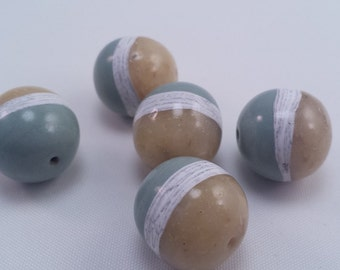 Sun Kissed Meadow Faux Lampwork Beads 5