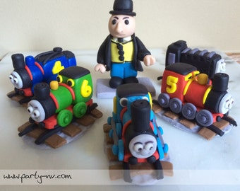 EDIBLE (Fondant Cake Toppers) - Thomas the Train Inspired