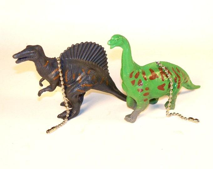 Dinosaur Ceiling Fan Pull Set - Kids Room Decor, Dinosaur Decor, Kids Gift, Jurrasic Worls,  Apatosaurus & Spinosaurus