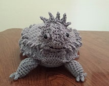 Texas Horny Toad (Horned Lizard) Crochet Pattern