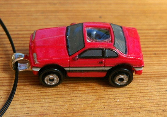 Red Sports Car Micro Machine Car Pendant