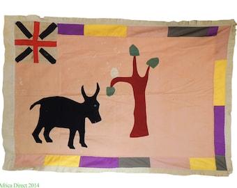 Fante Asafo Flag Appliqued  Frankaa Ghana Africa 90671 SALE WAS 450