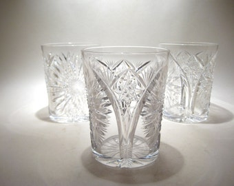 Antique Cut Crystal Tumblers