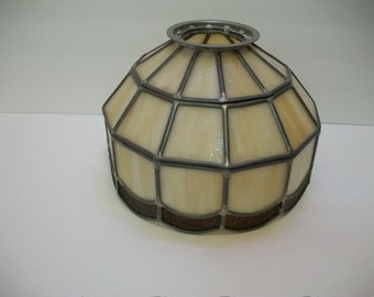 Tiffany Style Stain Glass Lamp Shade, Leaded Glass Lamp Shade, Hanging Stain Glass Lamp Shade, Chandelier Lamp Shade,