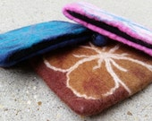 Small Purse, Hand Felted Notions Bag - On-the-Go Organizer for Fiber Artist Notions ~ Fair Trade