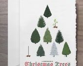 A Compendium of Christmas Trees Greeting Card