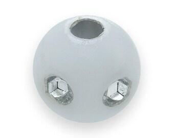 300 WHITE BLING Beads 5mm Resin Rhinestone Diamond H0369