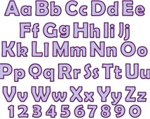 Monogram applique Font machine embroidery applique designs, monogram, alphabet, INSTANT DOWNLOAD - letters and numbers 2, 3 and 4 inches
