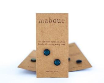 Deep Blue stoneware stud earrings