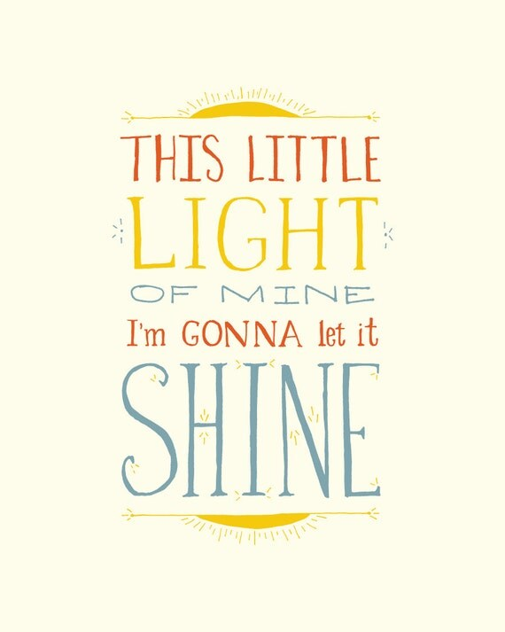 This little light of Mine Inspirational hand lettering baby