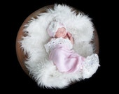 Lace Top and Lace Fan Bottom Newborn Cocoon and Hat - Made to Order - You Choose Colors