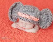 Elephant Hat - You Choose Color Stripe