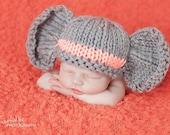 Elephant Hat - You Choose Color Stripe