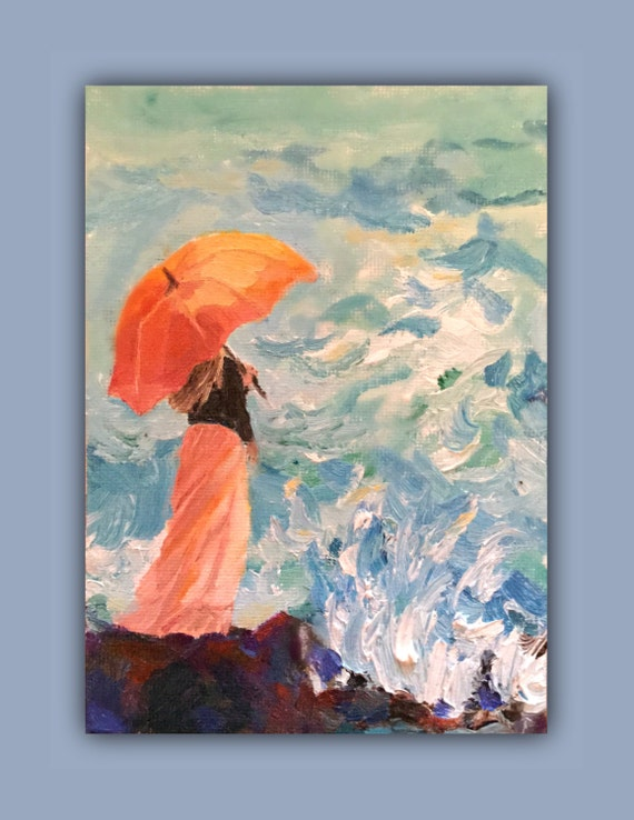 Dancing Umbrella Painting Oil Painting Umbrella