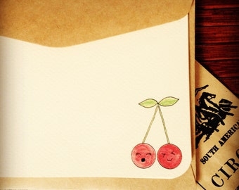 Cherry Twins Notecards (set of 5)