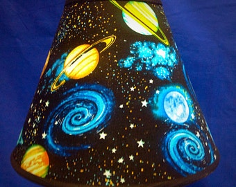Planets on Black Lamp Shade Space Astronomy