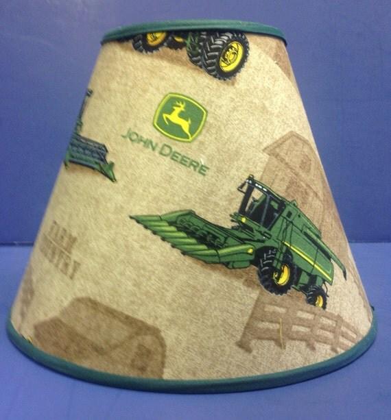 Jd Green Lamp Shades : John deere combine lamp shade