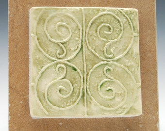 """Hand made Ceramic Tile with """"iron Gate"""" Design"""