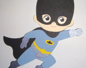 Super Hero Batman Paper Die Cut Paper Doll Scrapbook Embellishment