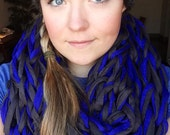 Double Arm Knitted T-Shirt Yarn Infinity Scarf