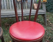 Sale-Your Choice-1 vintage Bent Wood Chair--Red Leather Seat or wooden Seat- very collectable