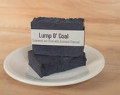 "Goat's Milk Soap ""Lump O' Coal"" (Cedar Wood and Clove with Activated Charcoal)"