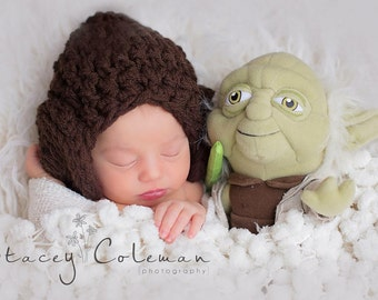 Crochet newborn princess of the stars hat inspired by Princess Leia of Star Wars, Princess Leia wig, Princess Leia costume, baby shower gift