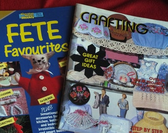 2 Vintage Australian Craft Magazines - FETE Favourites an Austrailian Womens Weekly and Crafting