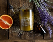 Monk - Lavender and Orange Essential Oil Scented Wine Bottle Soy Candle