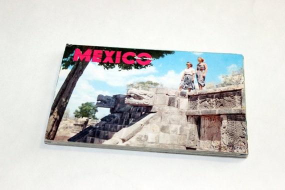 25 Vintage Mexico Chrome Postcards Blank - Wedding Guestbook
