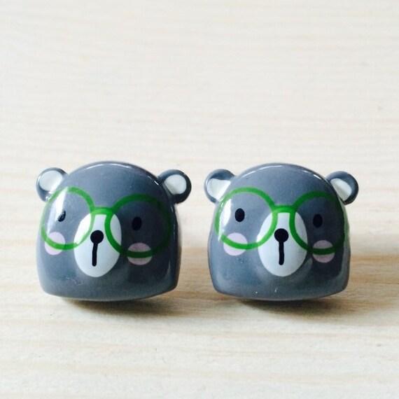 items similar to kawaii nerdy earrings on etsy