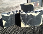 Activated Charcoal Soap with Eucalyptus and Rosemary - natural soap made with honey and beeswax