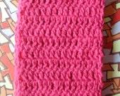 Hot Pink Metallic Handmade Crochet Scarf by Pepperland