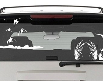 Duck Truck Sticker Etsy - Rear window hunting decals for trucks