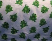 Receiving Blanket - Frogs - flannel - white - unisex - reversible