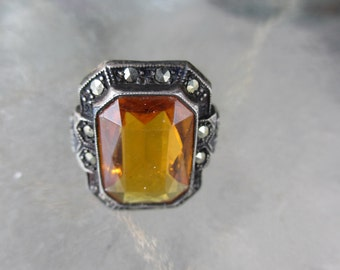 Vintage Antique Citrine Ring 4
