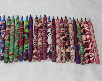 Pens by Matthew in colors of red