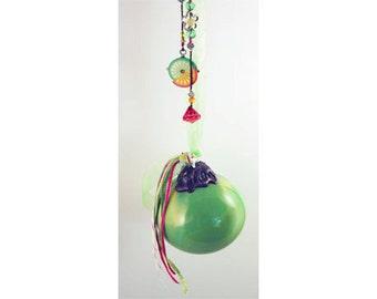 Prosperous Citrus Kitchen Wish Ball, Fairy Ball, Friendship Ball, Witch Ball