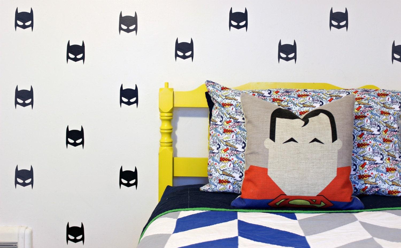 superhero mask vinyl wall decals