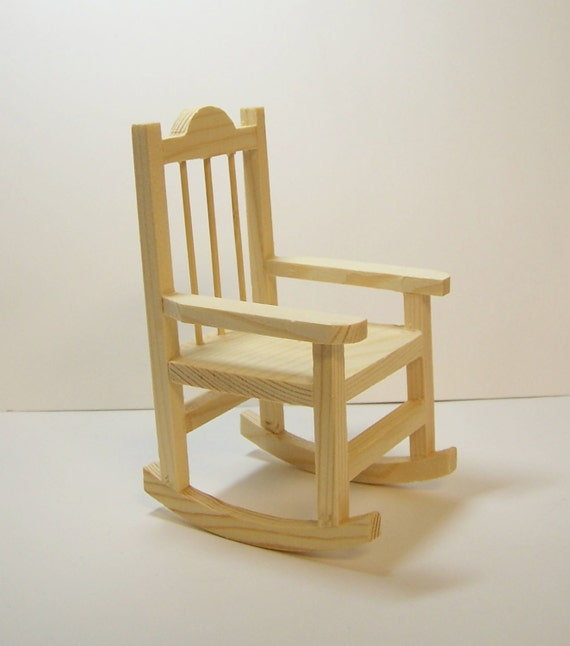 Miniature rocking chair unfinished wood ready to paint or stain