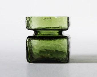 Vintage Green Vase by Helena Tynell - Riihimäen Lasi 60s