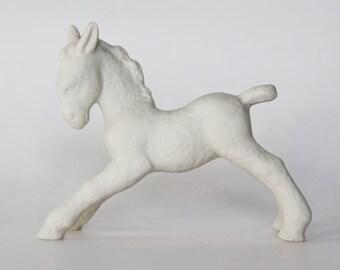 Vintage German White Horse Figurine - Schaubach 60s